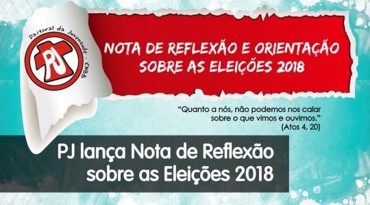 Pastoral da Juventude lança nota sobre as Eleições 2018