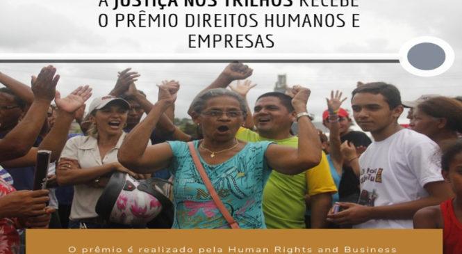 """Danilo Chammas, de Justiça nos Trilhos: """"um Reconhecimento Internacional tão Importante Reforça a Importância da Organização Popular"""""""