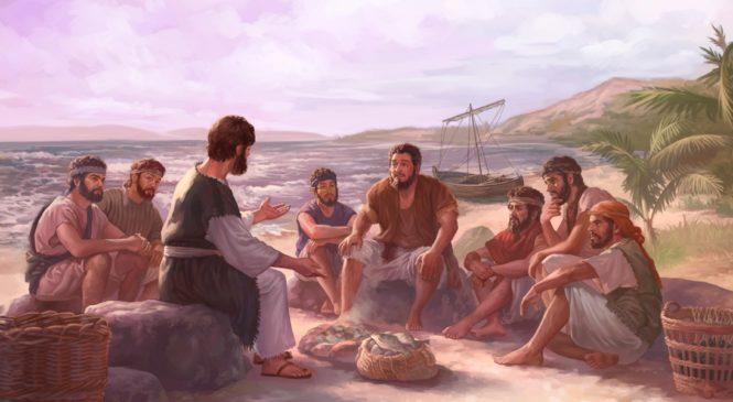 """Jesus e um bom peixe assado. """"Vede minhas mãos e meus pés, sou eu"""". Nosso Deus não é só um espírito. Edmilson Schinelo"""