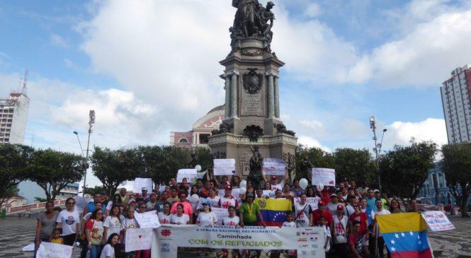 """Marcha com os Refugiados em Manaus: """"o papel da Igreja é acolher, abraçar os vulneráveis"""""""