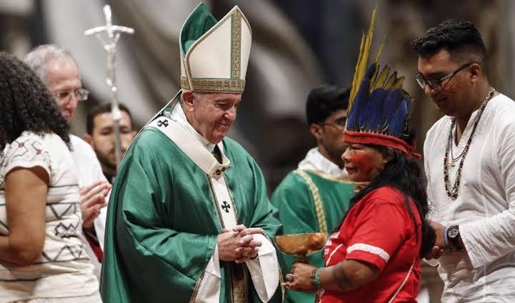 Resultado de imagem para Com palavras firmes e proféticas do Papa Francisco começa o Sínodo para a Amazônia