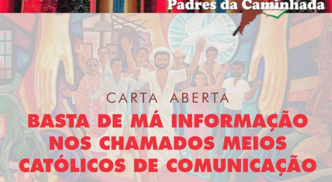 BASTA DE MÁ INFORMAÇÃO NOS CHAMADOS MEIOS CATÓLICOS DE COMUNICAÇÃO