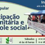 Núcleo de Assessoria às Organizações Populares oferece Curso Participação e Controle Social