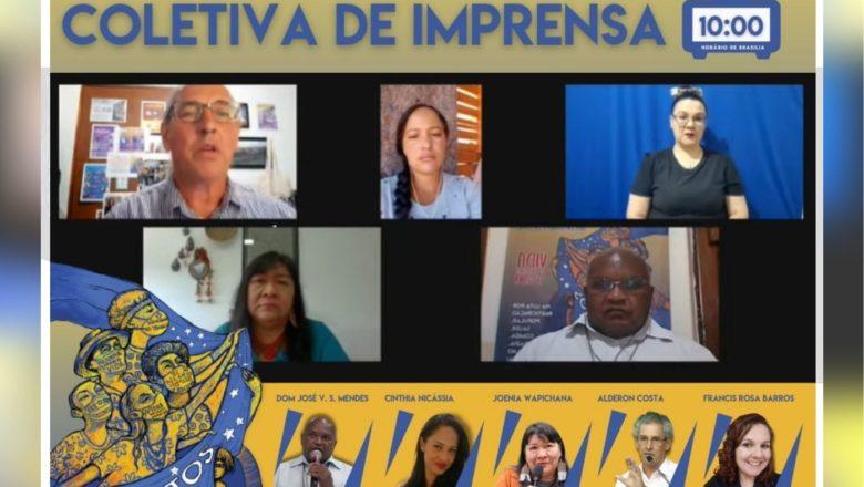 Coletiva de Imprensa reuniu representantes da Igreja, Movimentos Sociais e Indígenas.